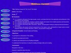 Matthew Henson At The Top Of The World Lesson Plan