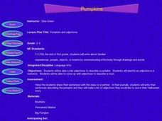 Pumpkins and Adjectives Lesson Plan