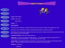 Math Relays Lesson Plan