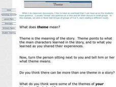 The Meaning of Theme Lesson Plan