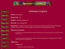 Halloween Couplets Lesson Plan