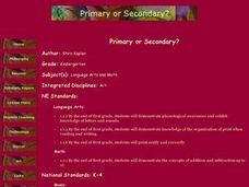 Primary or Secondary? Lesson Plan