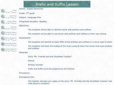 Prefix and Suffix Lesson Lesson Plan
