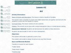 A Handful of Scribbles Lesson Plan