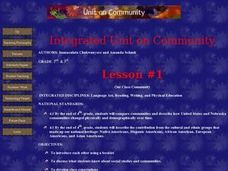 Integrated Unit on Community Lesson Plan