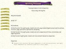 Teaching Students to Write Expository Lesson Plan