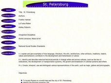 St. Petersburg Lesson Plan