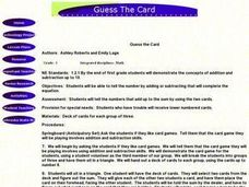 Guess the Card Lesson Plan