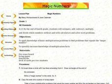 Magic Numbers Lesson Plan