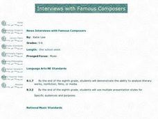 Interviews with Famous Composers Lesson Plan