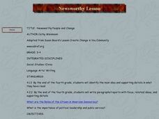 Newsworthy People and Change Lesson Plan