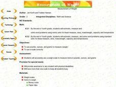 Measurement of Weight Lesson Plan