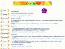 Coin Capers Lesson Plan