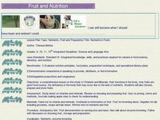 Nutrients, Fruit and Preparation Title: Nutrients in Fruits Lesson Plan