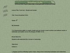Food Lab - Breads and Cereals Lesson Plan