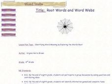 Root Words and Word Webs Lesson Plan
