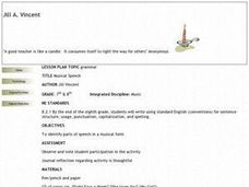 Musical Speech Lesson Plan