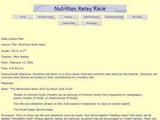 Nutrition Relay Race Lesson Plan