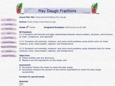 Play Dough Fractions Lesson Plan