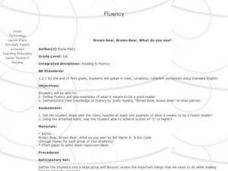 Reading Fluency with Brown Bear Lesson Plan