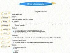 String Measurement Lesson Plan