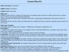 Economics Lesson Plan