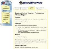 Are Weather Forecasters Always Right? Lesson Plan