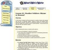 Weather Folklore: Rhyme or Reason? Lesson Plan