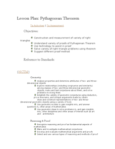 Lesson Plan: Pythagorean Theorem Lesson Plan