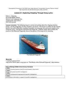 Exploring Shipping Through Song Lyrics Lesson Plan