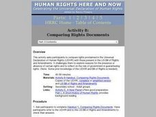 Comparing Rights Documents Lesson Plan