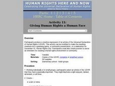 Giving Human Rights a Human Face Lesson Plan