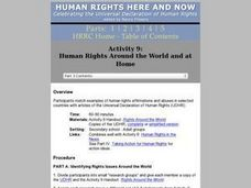 Human Rights Around the World and at Home Lesson Plan