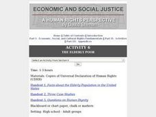 The Elderly Poor: Human Rights Lesson Plan