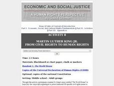 Martin Luther King Jr.: From Civil Rights to Human Rights Lesson Plan