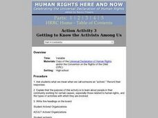 Getting To Know the Activists Among Us Lesson Plan