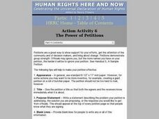 The Power of Petitions Lesson Plan