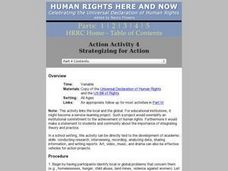 Human Rights: Strategizing for Action Lesson Plan