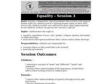 Equality: Children's Rights Lesson Plan