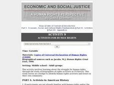 Activists for Human Rights Lesson Plan