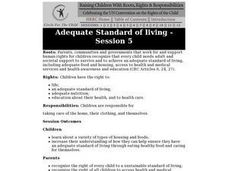 Adequate Standard of Living: Children's Rights Lesson Plan