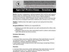 Special Protections-Session Six Lesson Plan