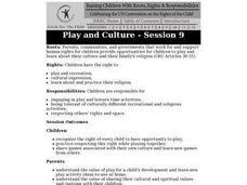 Play and Culture Lesson Plan