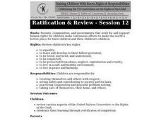 Ratification & Review Lesson Plan