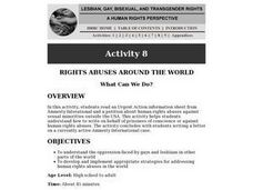 Rights Abuses Around the World:  What Can We Do? Lesson Plan