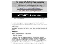 Human Rights Education Handbook: A New Planet Lesson Plan