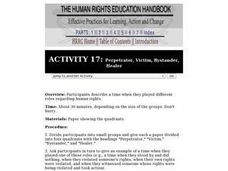 Human Rights Education Handbook: Perpetrator, Victim, Bystander, Healer Lesson Plan