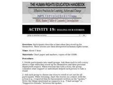 Human Rights Education Handbook: Telling Our Stories Lesson Plan