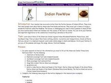 Indian PowWow Lesson Plan