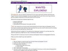 WANTED EXPLORERS Lesson Plan